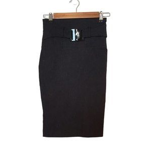 2/$20 -  High Waisted Belted Pencil Skirt